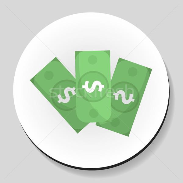 Dólares dinero etiqueta icono estilo negocios Foto stock © lucia_fox