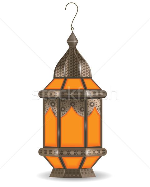 Ramadan Kareem realistic 3d lantern, isolated on white background. Vector illustration. Stock photo © lucia_fox