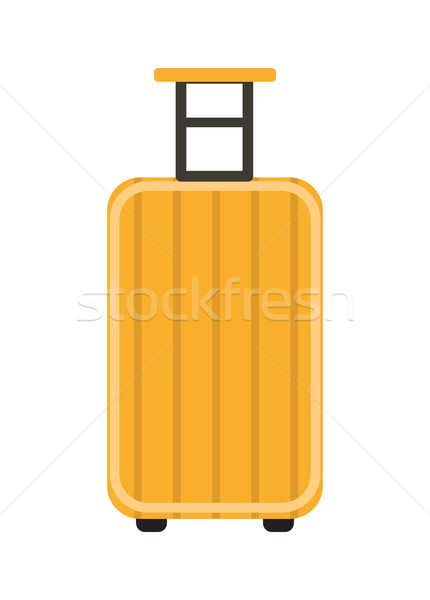 Travel Suitcase icon flat style.  on wheels. Luggage isolated  a white background. Vector illustrati Stock photo © lucia_fox