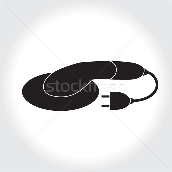 Grinder tool icon, black silhouette. Element logo Bulgarian , isolated on white background. Vector i Stock photo © lucia_fox