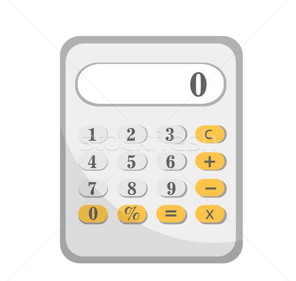 Calculadora icono diseno aislado blanco clip art Foto stock © lucia_fox