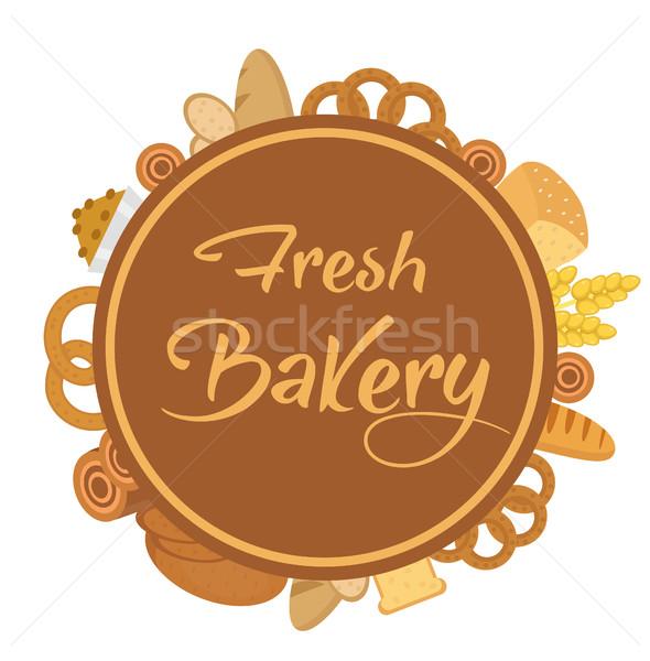 Boulangerie produits cadre pain pain gâteau Photo stock © lucia_fox
