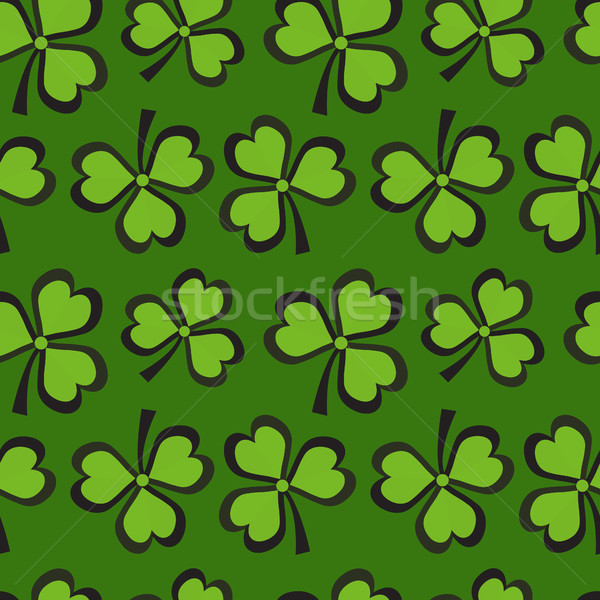 St. Patricks Day seamless pattern with clover. Clover background, texture, paper. Vector illustratio Stock photo © lucia_fox