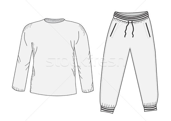Kabát tréningruha rajz szett dolgok stílus Stock fotó © lucia_fox