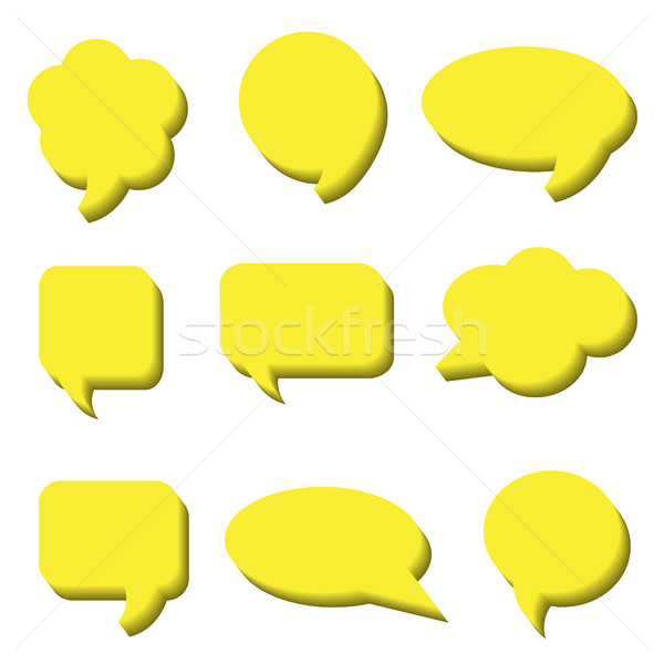 Blank empty white speech bubbles. Volumetric Stickers of speech bubbles vector set Stock photo © lucia_fox