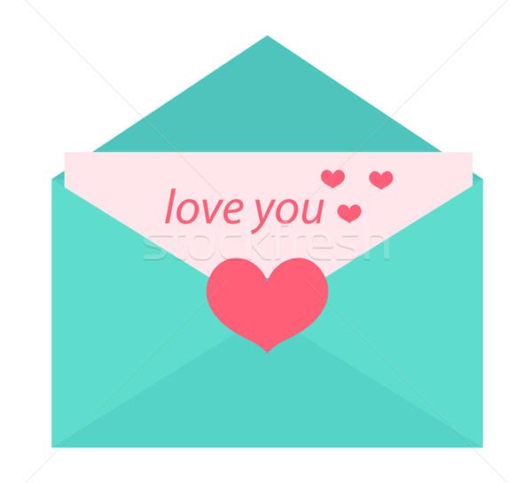 Liefde brief ontwerp geïsoleerd witte clip art Stockfoto © lucia_fox