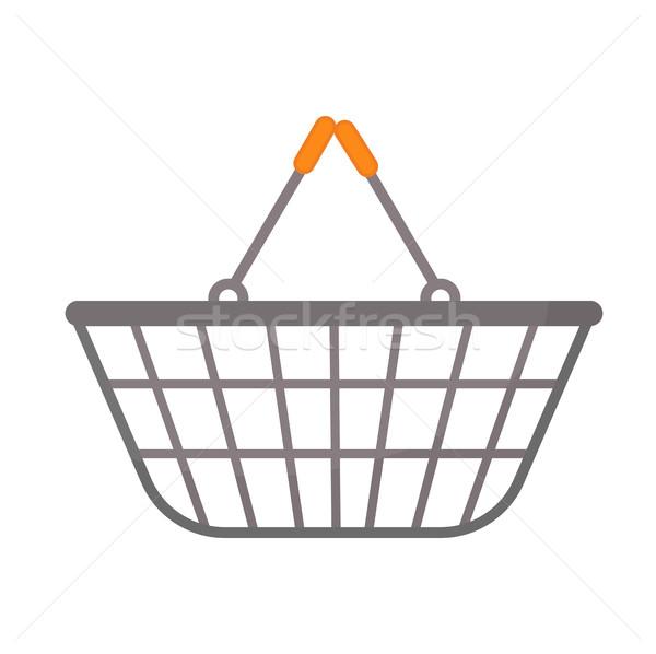Bevásárlókosár ikon stílus izolált fehér táska Stock fotó © lucia_fox