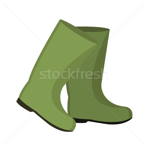 Rubber boots for fishing. icon flat, cartoon style. Isolated on white background. Vector illustratio Stock photo © lucia_fox
