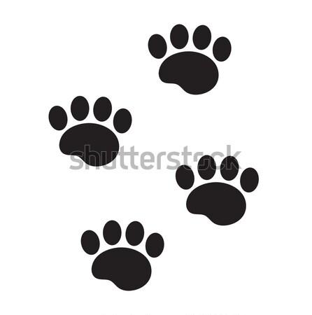 Láb állat ikon rajz stílus kutya Stock fotó © lucia_fox