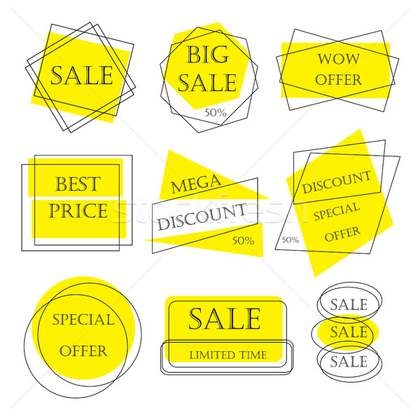 Special offer sale tag discount retail sticker price bundle isolated on white background Stock photo © lucia_fox
