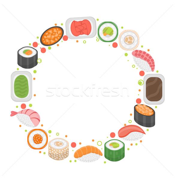 Sushi frame modello spazio testo japanese Foto d'archivio © lucia_fox