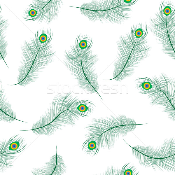 Pavo real pluma sin costura textura wallpaper Foto stock © lucia_fox