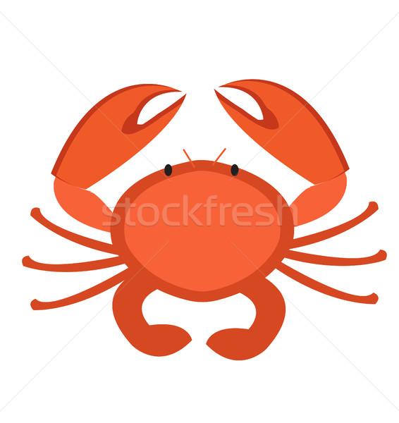 Krab ikona stylu odizolowany biały clipart Zdjęcia stock © lucia_fox