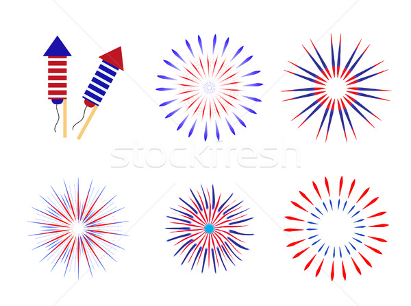 Stockfoto: Vuurwerk · traditioneel · kleuren · usa · ingesteld · communie