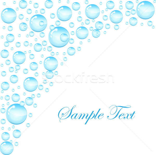 Soap bubbles background with space for text. Template for the text with soap bubbles, water droplets Stock photo © lucia_fox