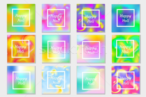 счастливым фестиваля Индия набор плакат Сток-фото © lucia_fox