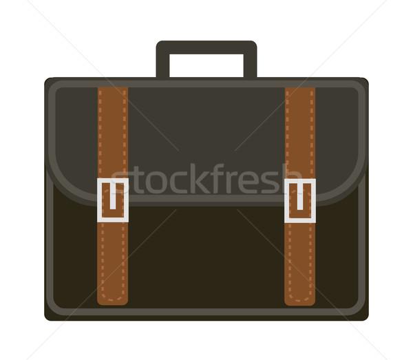 ビジネス スーツケース アイコン スタイル 孤立した 白 ストックフォト © lucia_fox