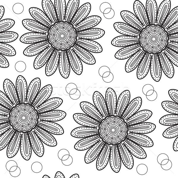 Chrysant stijl hand tekening Stockfoto © lucia_fox