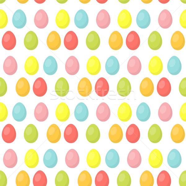 Easter eggs cute sfondo colorato Foto d'archivio © lucia_fox
