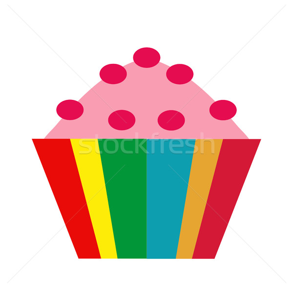 Colorful cupcake. icon flat, cartoon style. Muffins isolated on white background. Vector illustratio Stock photo © lucia_fox