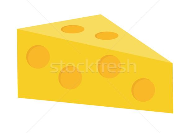Kaas icon stijl geïsoleerd witte voedsel Stockfoto © lucia_fox