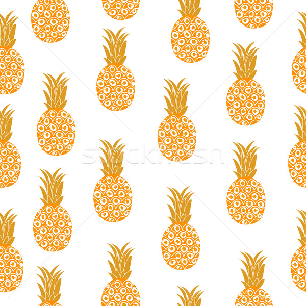 Pineapple seamless texture. Pineapple background, wallpaper, fabric. Vector illustration. Stock photo © lucia_fox