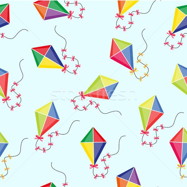 Kite zomer oneindig textuur spel Stockfoto © lucia_fox