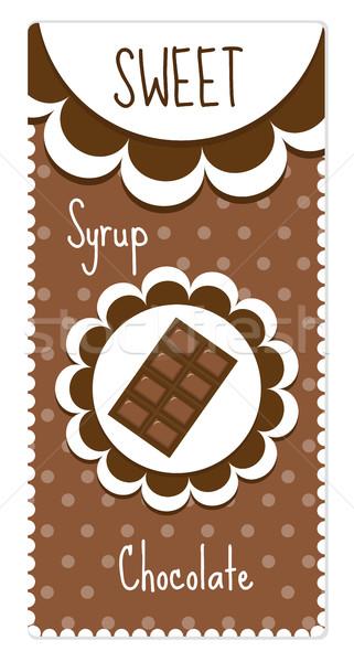 Doce chocolate bebidas xarope comida Foto stock © lucia_fox
