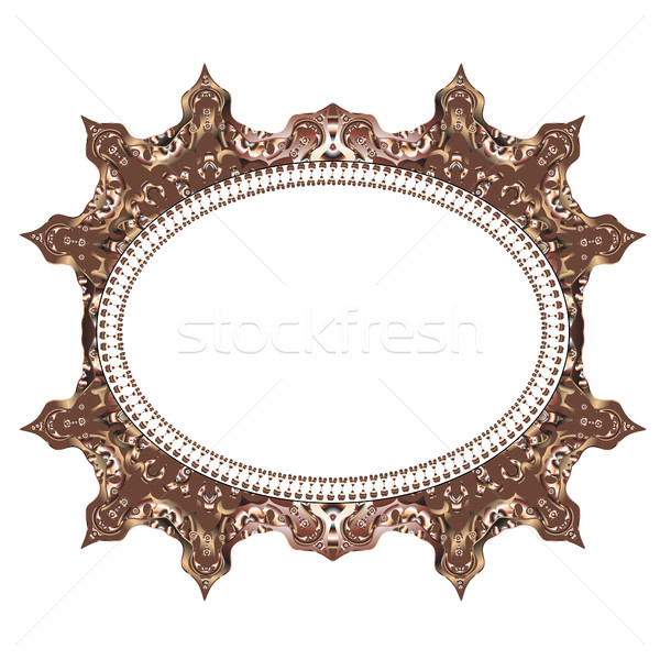 Vintage cards Frame with Floral mandala pattern and ornaments. Frame oriental design template. Islam Stock photo © lucia_fox