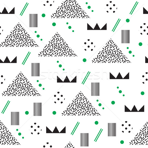 Minimalist pattern with geometric shapes. Modern background. Hipster style texture. Memphis style. V Stock photo © lucia_fox