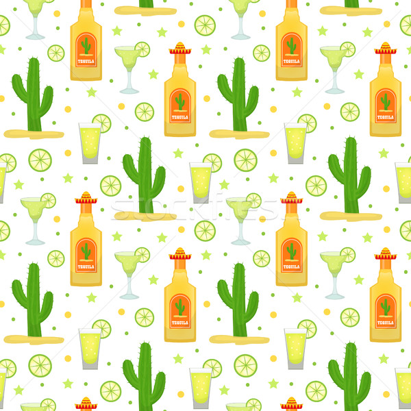 Tequila cactus mexican vacances Photo stock © lucia_fox