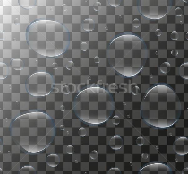 Realistyczny przezroczysty wody pęcherzyki 3D zestaw Zdjęcia stock © lucia_fox