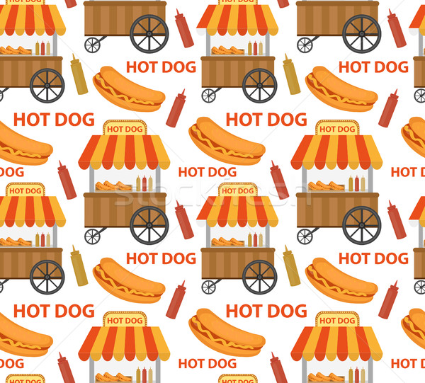 Hot dog texture fast food Foto d'archivio © lucia_fox
