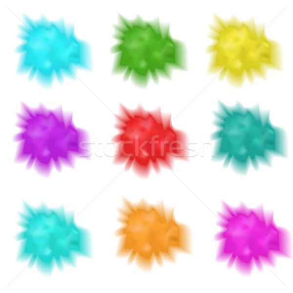 Ingesteld realistisch spatten verf collectie veelkleurig Stockfoto © lucia_fox
