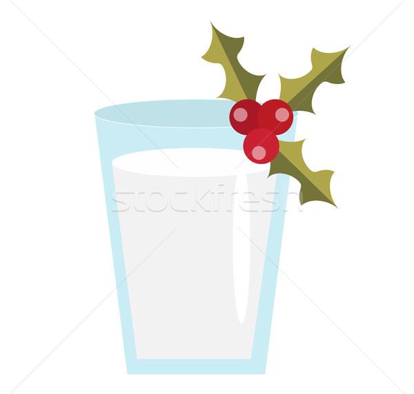 Milk for Santa vector icon. Isolated on white background. Stock photo © lucia_fox