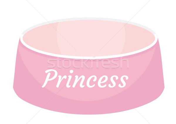 розовый чаши Принцесса икона Сток-фото © lucia_fox