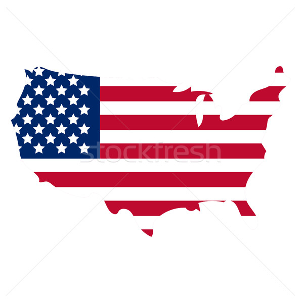 Map of America icon, flat style. Isolated on white background. Vector illustration. Stock photo © lucia_fox