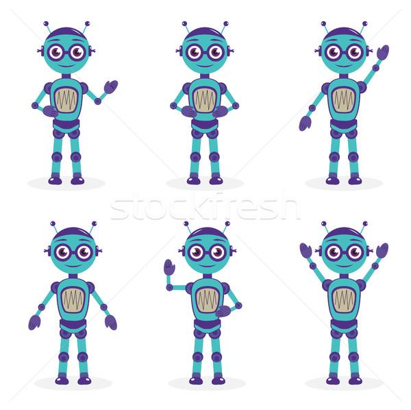 Mascote robô diferente mascote logotipo Foto stock © lucia_fox