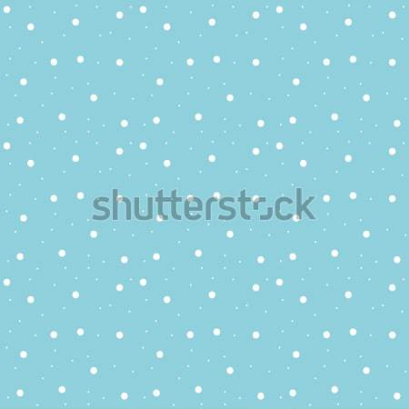 Snowflakes seamless pattern. Snow falls background. Vector illustration. Stock photo © lucia_fox