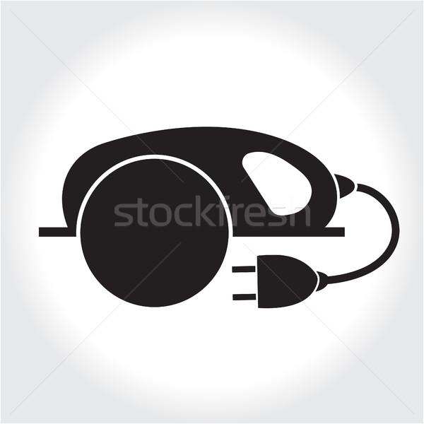 Zag tool icon zwarte silhouet Stockfoto © lucia_fox