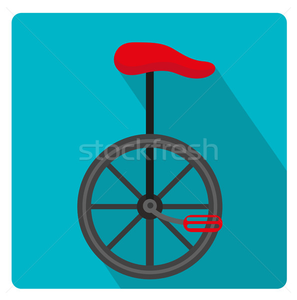 Egykerekű bicikli cirkusz ikon stílus hosszú árnyékok Stock fotó © lucia_fox