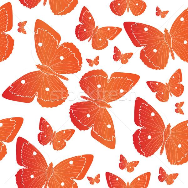 Laranja borboleta verão humor abstrato Foto stock © lucia_fox
