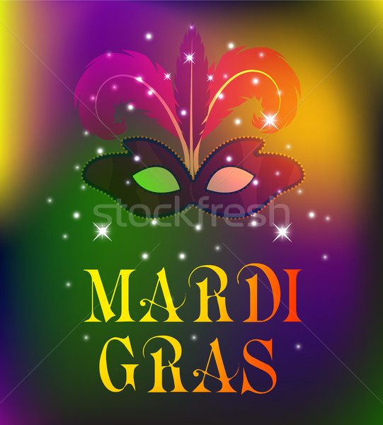 Mardi Gras mask, colorful poster, template, flyer. Vector illustration. Stock photo © lucia_fox