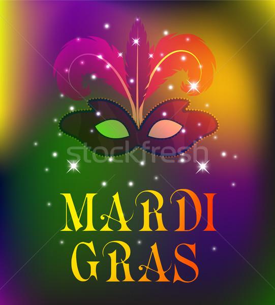 Masker kleurrijk poster sjabloon flyer partij Stockfoto © lucia_fox