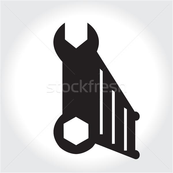 Chiave strumento icona nero silhouette elemento Foto d'archivio © lucia_fox