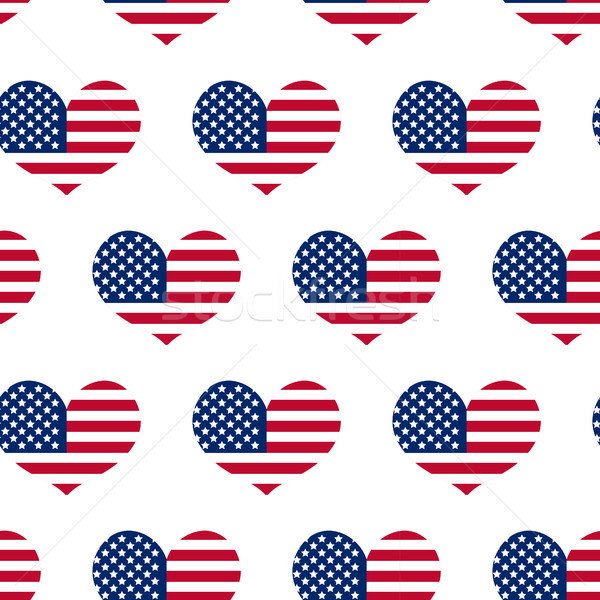 Independence Day of America seamless pattern. July 4th an endless background. USA national holiday r Stock photo © lucia_fox