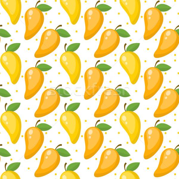 ストックフォト: マンゴー · エンドレス · テクスチャ · 果物 · 抽象的な