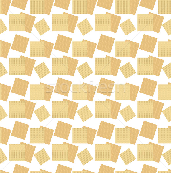 Passover seamless pattern with matzah. Pesach endless background, texture. Vector illustration. Stock photo © lucia_fox