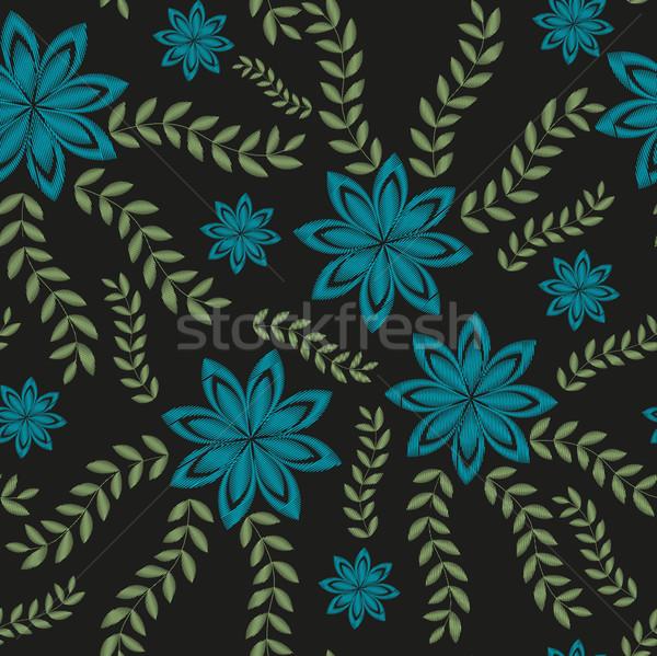 вышивка модный цветочный цветы орнамент Сток-фото © lucia_fox