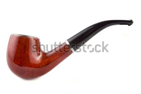 Tobacco pipe over white Stock photo © lucielang